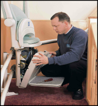 Stairlift being repaired in Herefordshire