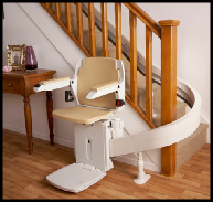 Curved Brooks 80 Stair Lift Swansea